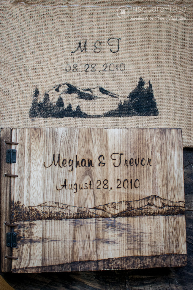 Personalized 5th anniversary wooden photo album