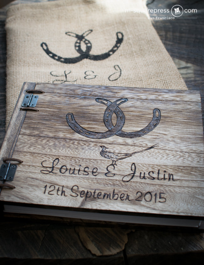 horseshoe wedding guestbook