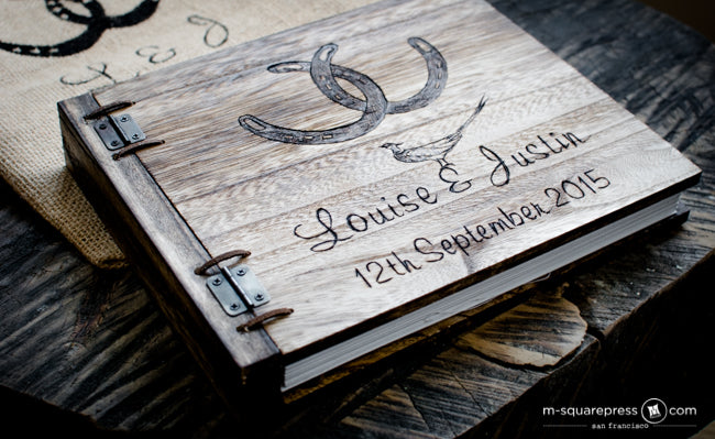 horseshoe wedding guest book