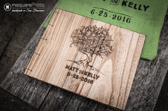 rustic tree wedding guestbook