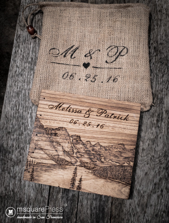 Moraine Lake Wedding Guestbook