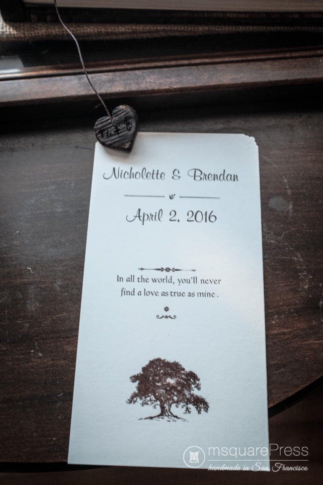 rustic oak tree wedding guest book