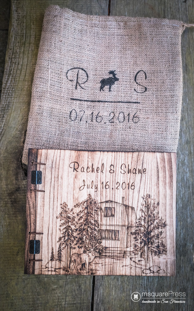 cabin wedding guestbook