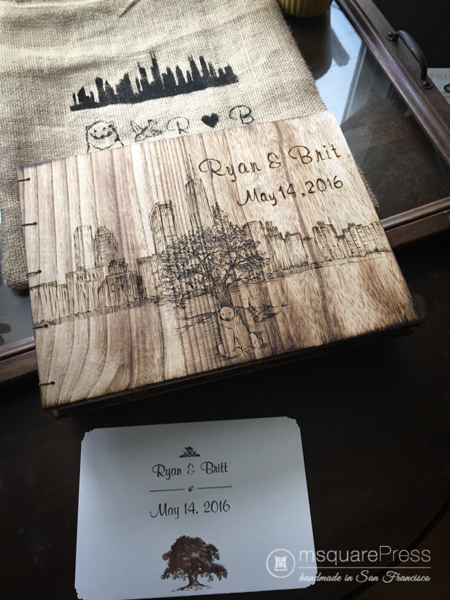 Chicago Skyline Wedding Guestbook