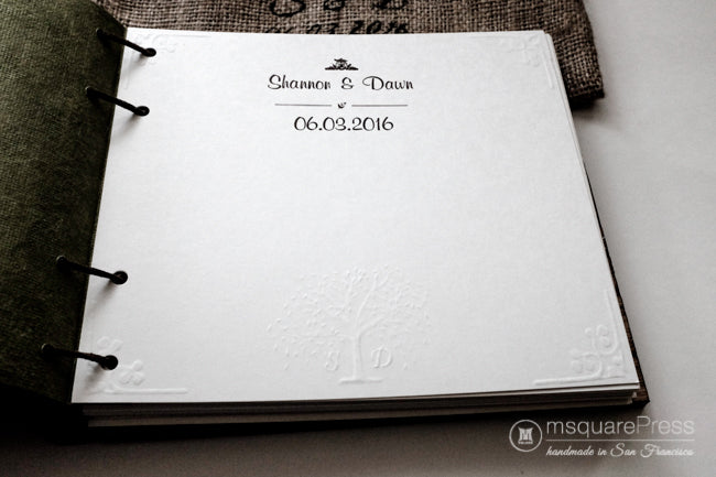 willow tree wedding guestbook