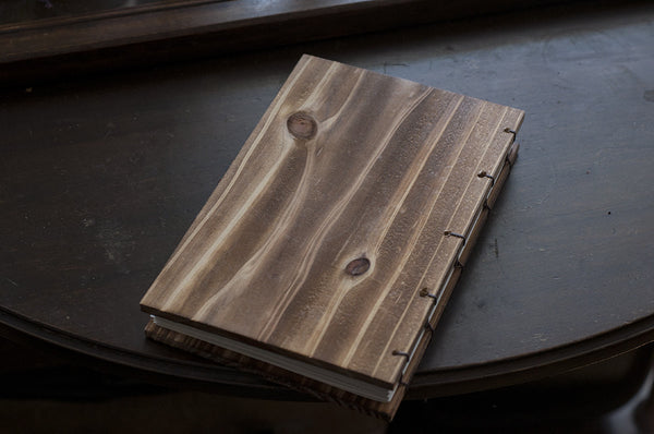 Personalized Cedar Wooden Handcrafted Coptic Journal