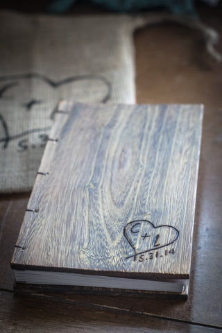 Personalized Simple Heart Wedding Guest Book
