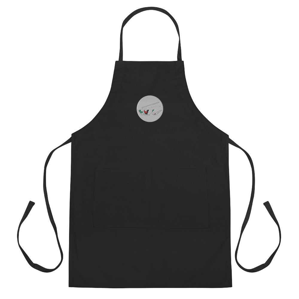 Rooster Bowl Embroidered Apron