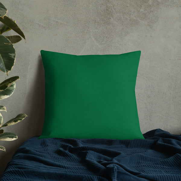 Nasturtium Green Leaf with Water Drops Pillow