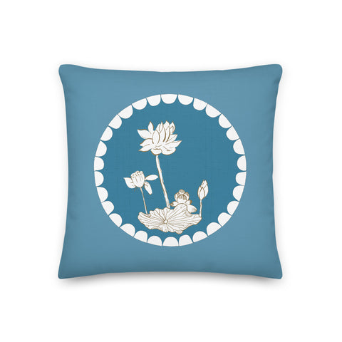 Premium Lotus Flower & leaf Pillow