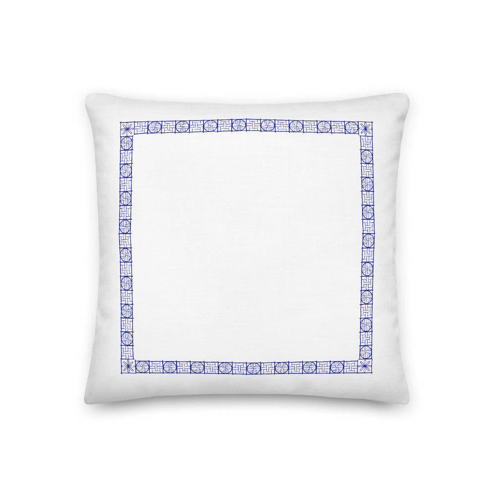 Fret Border Premium Pillow