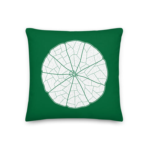 Nasturtium Green Leaf Pillow