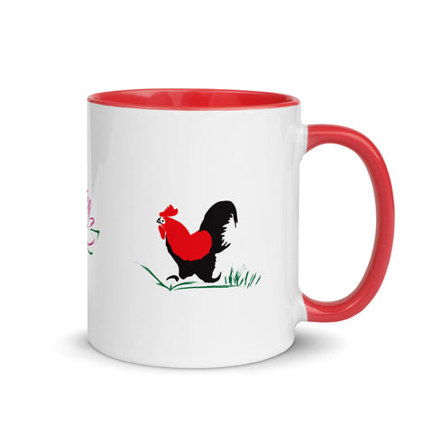 Rooster Mug with Color Inside