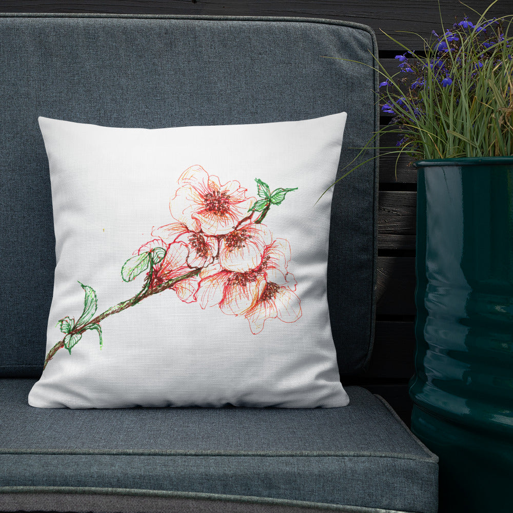 Premium Floral Sketch Pillow