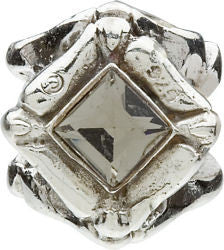 Chamilia Silver Smokey CZ Diamond Shaped Charm