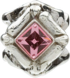 Chamilia Silver Light Pink CZ Diamond Shaped Charm
