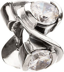Chamilia Silver Clear CZ Forever Charm