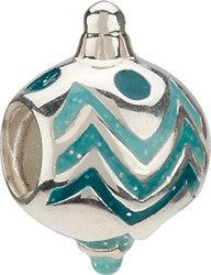 Chamilia Silver Enamel Holiday Ornament Charm