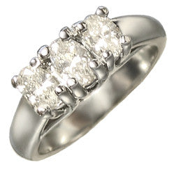 Platinum Diamond Trinity Ring