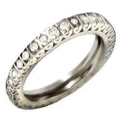 14kt White Gold Bezel Set Diamond Eternity Band