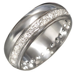 14Kt White Gold Ladies Diamond Wedding Band