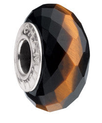 Chamilia Silver Golden Brown Tiger's Eye Charm