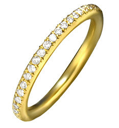 14k YG Pave Set Diamond Ring