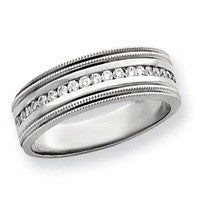 14kt WG Gents Diamond Wedding Band
