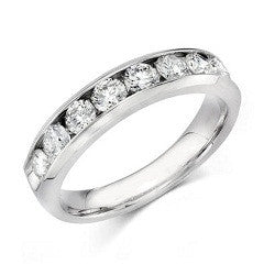 14k WG Channel-Set Diamond Wedding Band