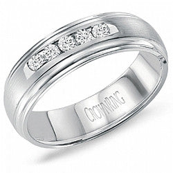 14kt WG Gents Five-Diamond Wedding Band