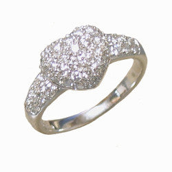 14kt WG Pave Diamond Heart Ring
