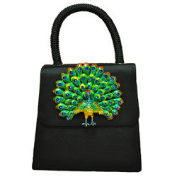Harrison Scott Black Fabric Top Handle Handbag