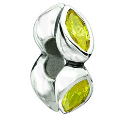 Chamilia Silver Yellow CZ Midtown Marquis Charm