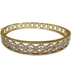 14k YG Diamond Bangle Bracelet