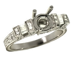 18k WG Diamond Engagement Mounting