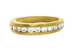 18k YG Ladies Diamond Wedding Band
