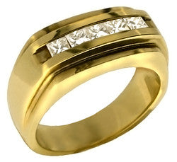 14kt Yellow Gold Diamond Wedding Band