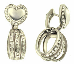 18k WG Diamond Heart Earrings