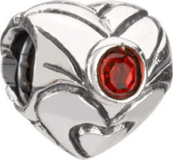 Chamilia Silver January Birthstone Heart Charm