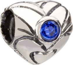 Chamilia Silver September Birthstone Heart Charm