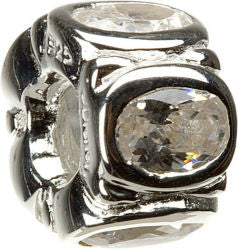 Chamilia Silver 5 Ovals Clear CZ Charm