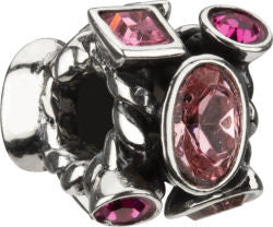 Chamilia Silver Pink CZ Marquise Bead