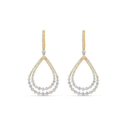 18kt yellow gold diamond fashion earrings