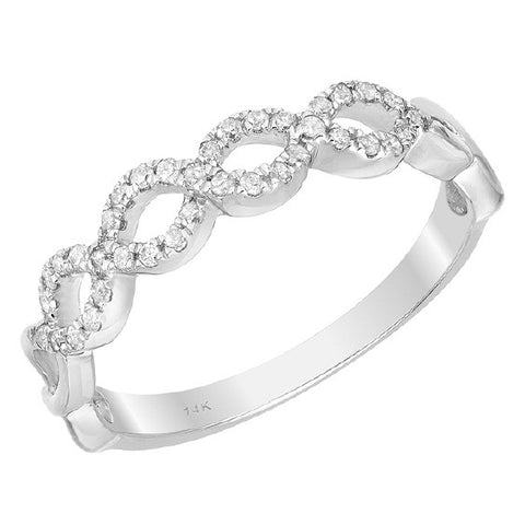 14kt white gold fancy diamond band.