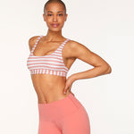 Vintage Stripe Sports Bra