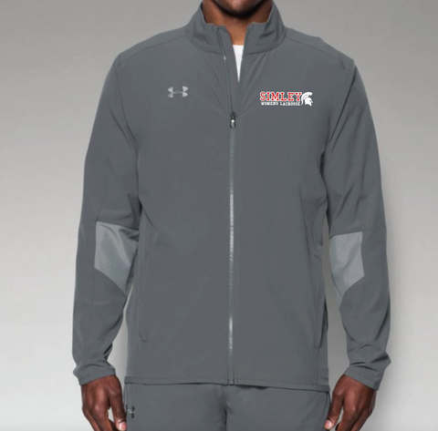 SIMLEY WOMENS LACROSSE (MENS) TEAM UNDER ARMOUR WOVEN JACKET-GREY