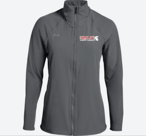 SIMLEY WOMENS LACROSSE TEAM UNDER ARMOUR WOVEN JACKET-GREY