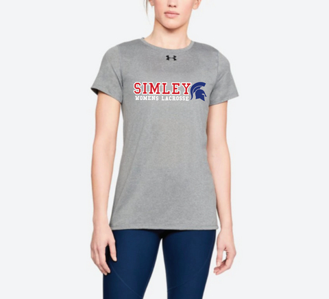SIMLEY WOMENS LACROSSE UNDER ARMOUR LOCKER T-GREY