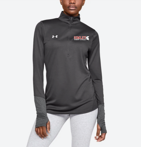 SIMLEY WOMENS LACROSSE UNDER ARMOUR LOCKER 1/4 ZIP-GREY