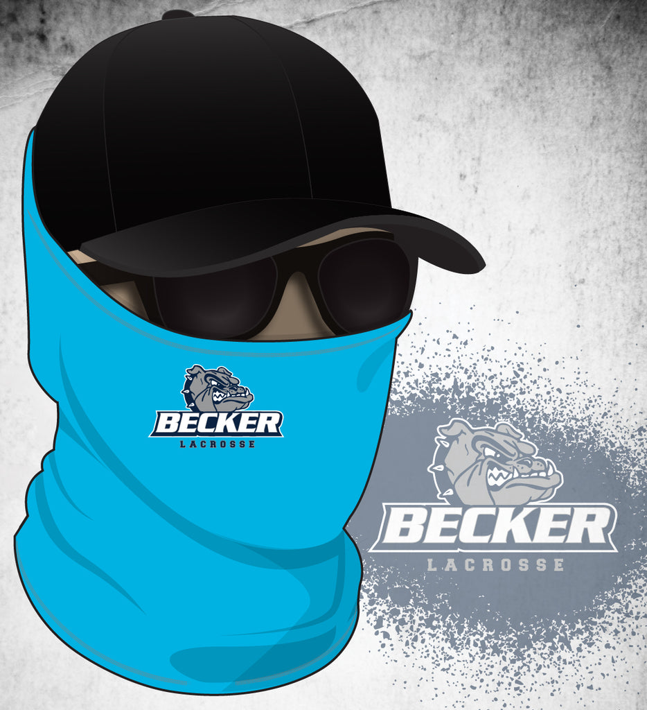 Becker Lacrosse FUNDRAISER Face Gaiter - Carolina Blue